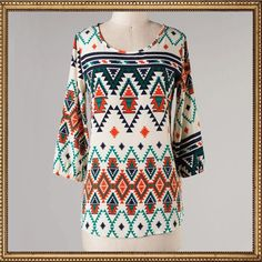 Las Cruces Tunic Top. www.TheLuckyCowgirlShop.com #aztec #tribal #western