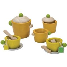 plan toys wooden tea set toy What better child's play than an old fashioned tea party.  Bring the organic dolls, the organic stuffed bears.