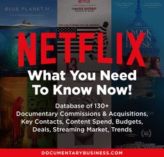 Netflix's Documentary Strategy. Diego Buñuel's presentation at Sunny Side of the Doc reported in detail by D-Word's Eli Brown - DocumentaryBusiness.com Blue Planet Ii, Documentary Filmmaking, Innovation Strategy, Netflix Documentaries, Executive Producer, Box Office, Economics, Nonfiction, Read More