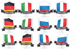 Vector Flag Shields -   Set of flag shields for your international projects, countries publications or sport topics in your designs.  - https://www.welovesolo.com/vector-flag-shields/?utm_source=PN&utm_medium=weloveso80%40gmail.com&utm_campaign=SNAP%2Bfrom%2BWeLoveSoLo