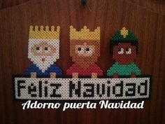 Adorno Navidad Reyes Magos de Hama Beads - Perler Beads - YouTube