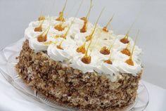 Retete Culinare - Tort cu ciocolata, bezea si crema de lapte