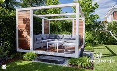 Nowoczesna altana ogrodowa - zdjęcie od Studio projektowe INSPIRACJE - Ogród - Styl Nowoczesny - Studio projektowe INSPIRACJE