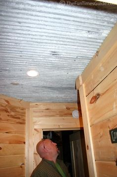 rustic ceiling ideas | Tin ceilings in the basement, plus as an accent on the kitchen ...