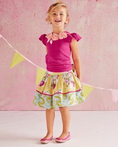 Woven Party Skirt by Moxie & Mabel - Girls