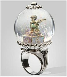 Tinkerbell Snow Globe Ring