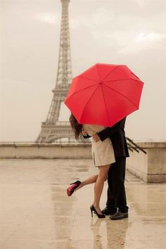 Romance in the rain, in the city of love... #ViXPHermanny