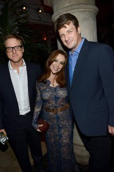 Alan Tudyk, Alyssa Milano, and Nathan Fillion