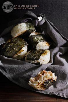 Spicy Smoked Salmon Onigiri Rice Balls | Lady and Pups