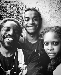 Andre 3000 and Erykah Badu with their son Seven
