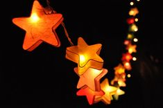 20 Bulbs All Stars mulberry paper  Lanterns for wedding by ginew, $15.50