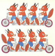 Foxes by Károly Reich