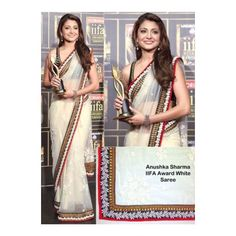 Anushka sharma iifa award net designer saree