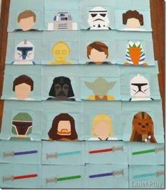 Paper pieced LEGO Star Wars characters