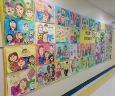 Apex Elementary Art: we are family.... 2nd grade family watercolor portraits