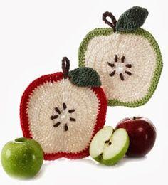 Uncinetto e crochet: presine a crochet a forma di mela