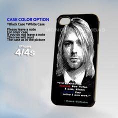 Kurt cobain Quotes, Photo On Hard Plastic iPhone 4 4S Case | MonggoDiTumbas - Accessories on ArtFire