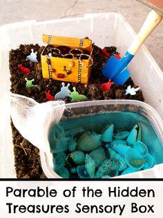 Parable of the Hidden Treasure Sensory Box from More Fun, Mom!