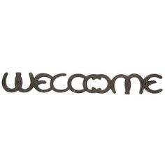$8 - Horseshoe welcome sign - 21 inches wide and 2-5/8 inches tall