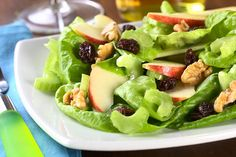 Healthy Recipes For Pregnant Women - Apple And Lettuce Salad With Melon Dressing