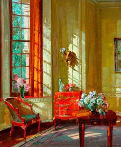 """""""A London Interior"""": Herbert Davis Richter(c) Bradford Museums and Galleries; Supplied by The Public Catalogue Foundation"""
