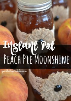 Instant Pot Peach Pie Moonshine Whether you are tailgating, hosting a bbq, or looking for a new drink to sip on, this instant pot peach moonshine is the perfect fit. Peach Pie Moonshine, How To Make Moonshine, Moon Shine, Alcohol Recipes, Drink Recipes, Homemade Wine Recipes, Homemade Liquor, Margarita Recipes, Cocktail Recipes