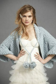 i am obsessed with this blue cozy cover up.  So beautiful and so romantic. Prefect for an evening wedding.