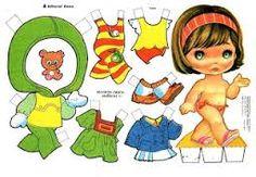 Resultado de imagem para boneca papel vestir imprimir