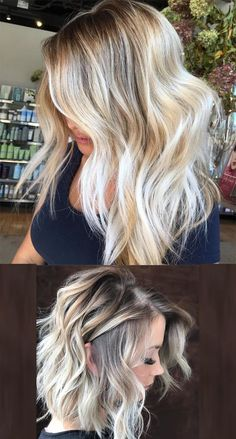 Trendy side-parted beautiful haircuts with blonde hair colors for 2017 2018.