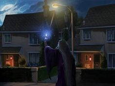 Dumbledore uses the Deluminator outside the Dursley's house.Take the Dumbledore quiz on pottermore.com