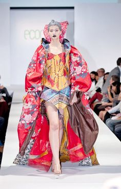 gown made from Envirosax by Amit Ayalon at Redress on the Runway, Hong Kong 2011