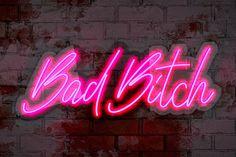 Bad Girl Wallpaper, Neon Wallpaper, Letter Symbols, Love Symbols, Custom Neon Signs, Led Neon Signs, Pink Neon Sign, Neon Sign Bedroom, No Bad Days