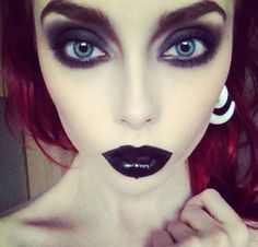 Extreme goth makeup x