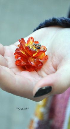 Fantasy flower glass pendant by Freaky Cave ♥