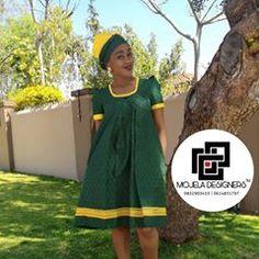 Happy & Charly Mojela (@mojeladesigners) • Instagram photos and videos Pedi Traditional Attire, Sepedi Traditional Dresses, African Traditional Wear, Traditional Wedding, African Dresses For Women, African Wear, African Fashion Dresses, Shweshwe Dresses, African Braids Hairstyles