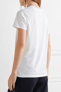 Opening Ceremony - Pointelle-trimmed Cotton-jersey T-shirt - White - x small
