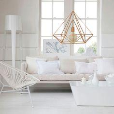 Mascherino di Himmeli luce diamante gabbia pendente geometrico rame lampadario industriale rosa oro originale Himmeli Art Panselinos