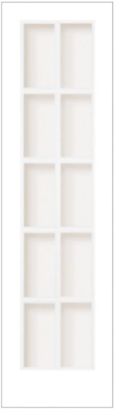 Milette Interior French Door Primed With 10 Lites Clear Glass Inches x 80 Inches Door Kits, Timeless Elegance, Kitchen Reno, French Doors, Home Depot, Clear Glass, Bookcase, Canada, Shelves