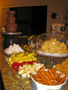 Chocolate Fountain... always fun for a party!