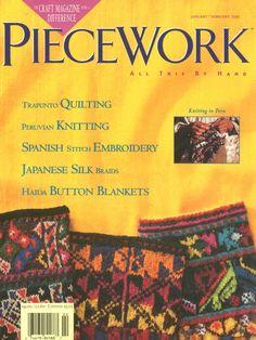 Piecework 1995 01 02  knitting , quiliting