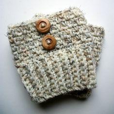Womens Boot Socks  Wool Cream Boot Socks With by BlueBayCrochet #bootsocks #bootcuffs