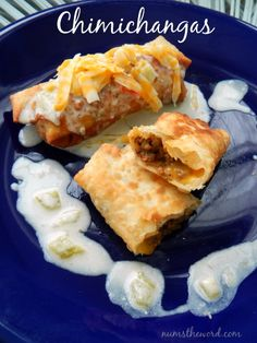These Chimichangas are easy and delicious.  This recipe includes ways to make them either beef or chicken and use egg roll wrappers instead of tortillas.