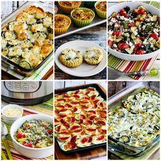 50 Amazing Zucchini Recipes – Kalyn's Kitchen Vegetable Dishes, Vegetable Recipes, Vegetable Pizza, Keto Recipes, Vegetarian Recipes, Dinner Recipes, Baked Zuchinni Recipes, Fish Marinade, Halibut