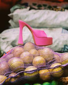 "AMINA MUADDI on Instagram: ""On the market. The DALIDA sandal in pink nappa featuring a 140mm heel. Photography @alvagalim #AMINAMUADDI #AMINAMUADDIHIGHSUMMER21"""