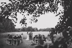 SIMPLE! // all we need is chairs // after the ceremony, grab your chair and take it to the reception