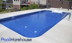 Pool Warehouse had 16 x 32 Rectangle In-ground Swimming Pool Kit in stock and ready to ship! Our pool kits come with everything you need for installation. Cheap Inground Pool, Vinyl Pools Inground, Pool Pool, Inground Pool Designs, Swimming Pool Kits, Cheap Pool, Luxury Swimming Pools, Backyard Pool Designs, Swimming Pools Backyard