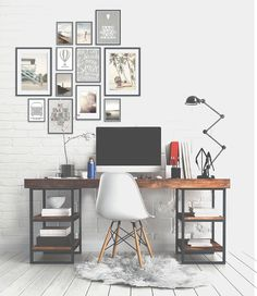 Home Office Design Modern is entirely important for your home. Whether you pick the Office Interior Design Ideas Modern or Corporate Office Design Executive, you will make the best Corporate Office Decorating Ideas for your own life. Modern Office Design, Office Interior Design, Office Interiors, Corporate Office Decor, Home Office Decor, Workspace Inspiration, Room Inspiration, Decoration, Room Decor