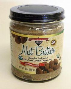 Nut Butter, Organic, Raw, Soaked & Dried, Almond, 8 oz. jar: Amazon.com: Grocery & Gourmet Food