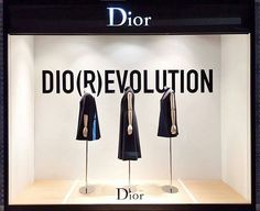 WEBSTA @ visualmerchandisingdaily - Dio(r)evolution #visualmerchandising #visualmerchandiser #retaillife #windowdisplay #dior #vmdaily Via @widaboo