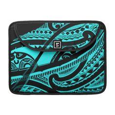 Original Maori tattoo in beautiful bright color Sleeve For MacBook Pro